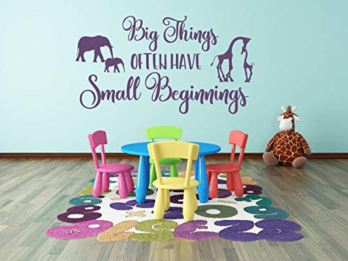 Big Things Often Have Little Beginnings Sticker mural pour chambre d'enfant