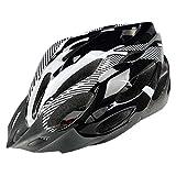 YOUCAI Ajustable Deporte Mountain Biking Seguridad Casco Ligero para Casco Bicicleta Fibra de Carbono Blanco Negro