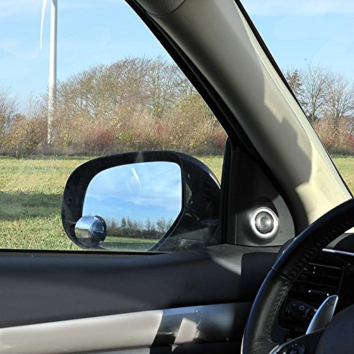 ProPlus 750612 Toter Winkel Spiegel (2 Stück) Zusatzspiegel rund randlos verstellbar konvex Ø50mm Durchmesser mit 3M Klebeband - Auto Weitwinkel-Spiegel Totwinkel-Spiegel
