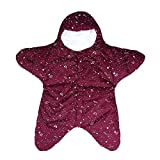 EsTong Baby SleepSack Wearable Blanket Starfish Swaddling Sleeping Bag Nest Nightgowns Bunting Newborn Bordeaux red, Medium