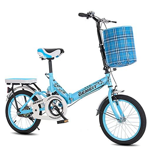 Bicicleta Plegable - Bicicleta Plegable para Unisex, Ligera, Cómoda, Portátil, Compacta, para Hombres, Mujeres, Estudiantes Y Viajeros Urbanos