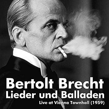 Bertolt Brecht: Lieder und Balladen, Live at Vienna Townhall (1959)