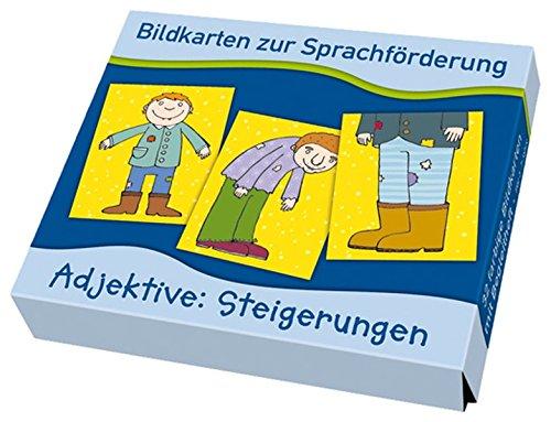 Bildkarten zur Sprachförderung: Adjektive: Steigerungen