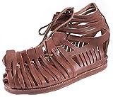 Sandalias romanas Caligae, para hombre, color marrón, medieval, vikingo, talla 40-47 (47)