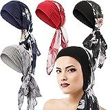 Best Turbans - 4 Pieces Headwear Turban Sleep Beanie Head Scarf Review
