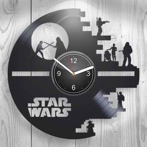 Star Wars Dark Forces Han Solo, Yodo, Handmade Vinyl Wall Clock, Comics, Movie Marvel DC, Home Decor, Wall Art, Home Decorations For Kitchen Inspirational, Best Gift For Her, Unique Design, Home Decor