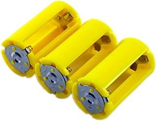 ニサク(nisaku) 電池スペーサー AA×3>D 単3>単1 3個入 No.6001