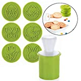 Xinlie Cutters Cookie Set Motif Hand-Pressure Moule à Gâteau Cookie Stamp Cookie Cutter Cookie Timbres...