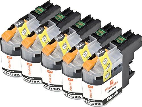 4 Nergo Pisco Inks LC125 LC127 Cartuchos de Tinta Brother DCP-J4110DW MFC-J4410DW MFC-J4510DW MFC-J4610DW MFC-J4710DW