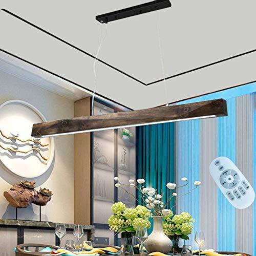 GHY LED Pendelleuchte Esstisch Hängeleuchte 20W Dimmbar Leuchtmittel Mit Den Fernbedienung Holz Hängelampe Esszimmer Industrial Deckenleuchte Für Esszimmer/Wohnzimmer/Küche/Café
