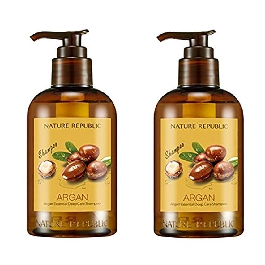 キャンベラうめきする必要があるネイチャーリパブリック(NATURE REPUBLIC) アルガン エッセンシャル ディープ ケア シャンプー x 2本 (Argan Essential Deep Care Shampoo x2pcs Set) [並行輸入品]