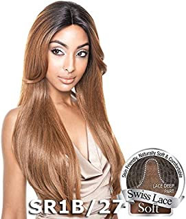 ISIS Human Hair Blend Lace Front Wig Brown Sugar Soft Swiss Lace BS216 (SR1B/27)