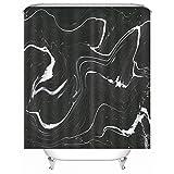 KnSam Cortina de ducha, giratoria, antimoho, poliéster, cortina de baño, para ventanas, antimoho, cortina de ducha, 128 x 17 cm