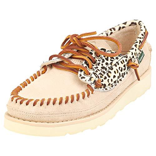 Sebago Keuka Wild Womens Boat Shoes in Cheetah Beige - 8.5 US