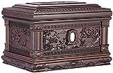 SaiFei Urnas para Cenizas humanas Urnas de cremación para Adultos Caja de Memoria para Siempre Tallado en Madera de Textura Fina (Palisandro Negro, 400 Pulgadas cúbicas) Cenizas