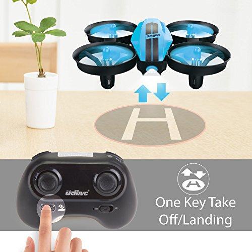 UDI U46 Mini Drone for Kids 2.4Ghz RC Drones with Auto Hovering Headless Mode Nano Quadcopter, Blue