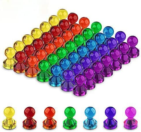 50 PCS Colorful Push Pin Colo Magnets Large discharge sale Assorted Office 5% OFF 8