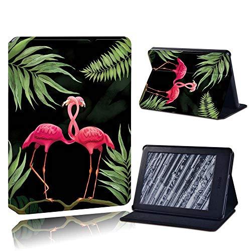 BHTZHY Moda Durable Voor Amazon Kindle 8/10Th 2016 2019 / Paperwhite 1/2/3/4 Gedrukt Flamingo Tablet Lederen Lector Stand Folio Shockproo Funda De Cubierta, Negro, Paperwhite 3 7Th Gen