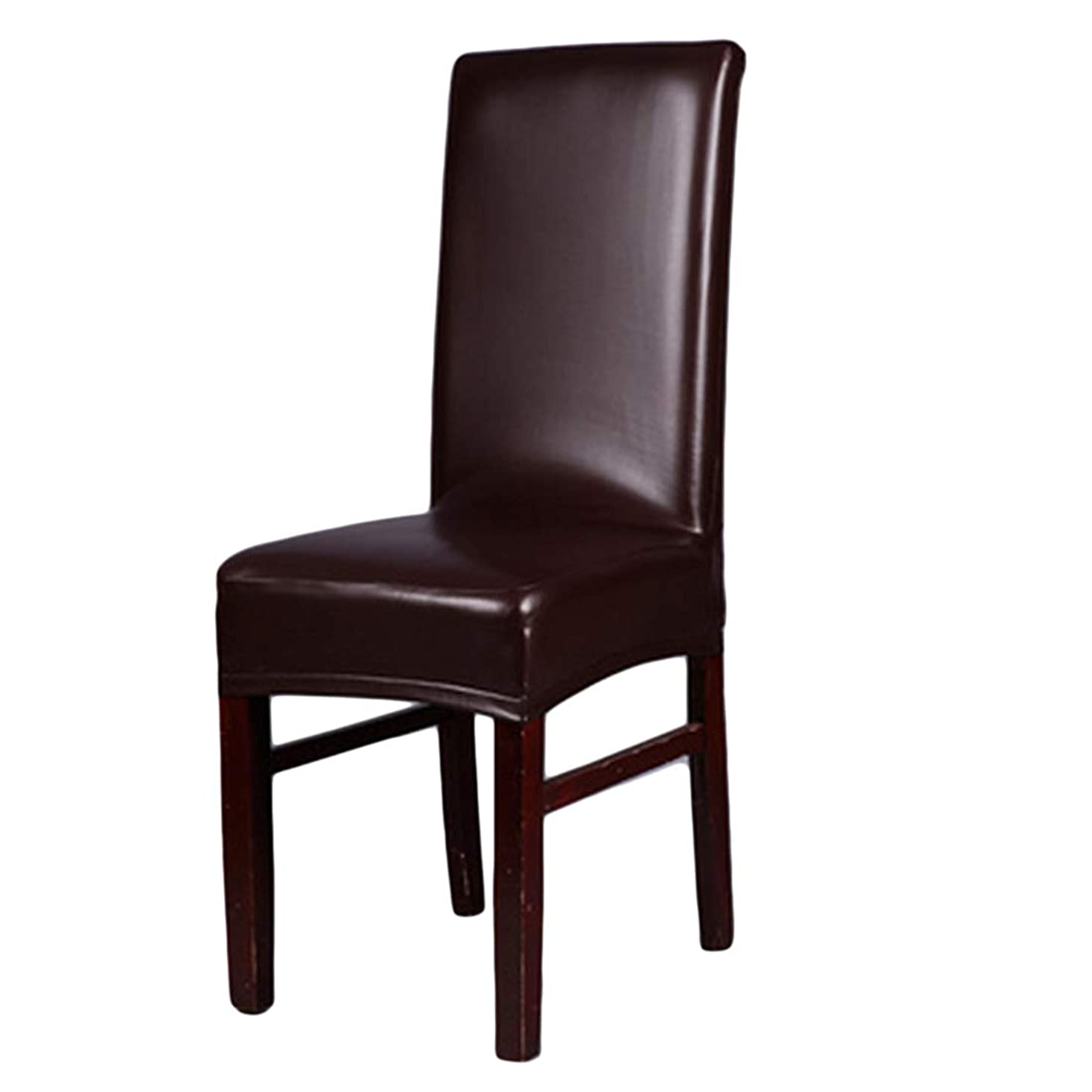 ブロック馬鹿影響するKLUMA 椅子カバー チェアカバー 伸縮素材 PU レザー 防水 家庭用 ウェディング?結婚式?パーティーに適合 取り外し可能