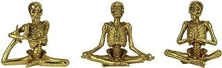 Special T Imports - Juego de 3 Figuras de Halloween, diseño de Esqueleto de Yoga
