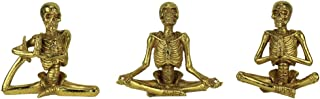 Special T Imports Yoga Skeletons Halloween Figurines - Set of 3