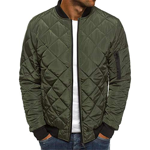 Men's Lightweight Bomber Jacket Windbreaker Softshell Flight Bomber Jacket Coat Outwear Overcoat (Army Green,Medium)