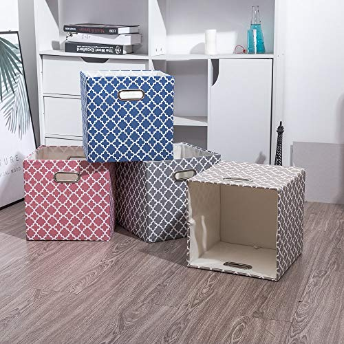 New Cube Folding Storage Box Clothes Storage Bins For Toys Organizers Baskets for Nursery Office Closet Shelf Container 30x30x30cm