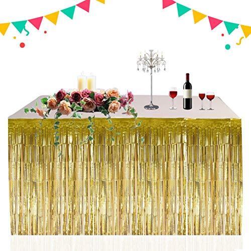 Mrinb Tischröcke - 2.74 x 0.74m Hawaii Gras Tisch Rock für BBQ tropischen Garten Strand Sommer Tiki Party Dekoration