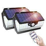ERAY Lampe Solaire Extérieure 55 LEDs avec Détecteur de Mouvement, Avec Télécommande/Charge USB/ IP65 Étanche/ 3 Modes...