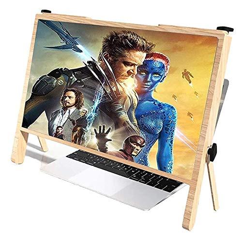 Soporte de la lupa de la pantalla de la computadora, amplificador de pantalla de pantalla portátil ultra claro de 21 pulgadas amplificador, proyector de pantalla de pantalla de teléfono, ampliación de