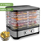 COOCHEER Déshydrateur Alimentaire, Machine électrique déshydrateur de Nourriture de la Marque, 250W, Sans BPA (7 Étages)