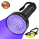 UV Black Light Flashlight, Super Bright 100 LED #1 Best Pet Dog Cat Urine Detector light Flashlight for Pet Urine Stains, UV Blacklight Flashlight with UV Sunglasses for Bed Bugs Scorpions, Home Hotel