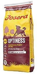 JOSERA Optiness, Hundefutter mit eiweißreduzierter Rezeptur ohne Mais, Super Premium Trockenfutter für ausgewachsene Hunde, 1er Pack, (1 x 15 kg)