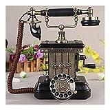 FTFTO Teléfono Fijo Industrial Antiguo del Metal del Equipo Vivo con el dial rotatorio clásico B