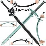 TOP Marques Collectibles Sword Art Online Kirito Kirigaya Dark Repulsor/Elucidator Schaumstoff LARP Schwert Set