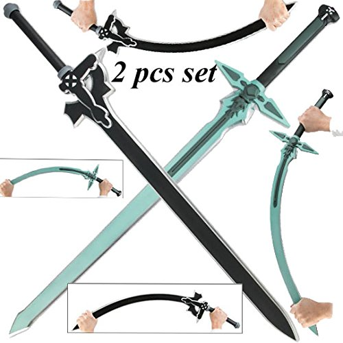 TOP Marques Collectibles Sword Art Online Kirito Kirigaya Dark Repulsor/Elucidator Schaumstoff LARP Schwert Set