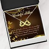Express Your Love Gifts Mother Necklace Angel Keepsake - Tarjeta de regalo de acero inoxidable