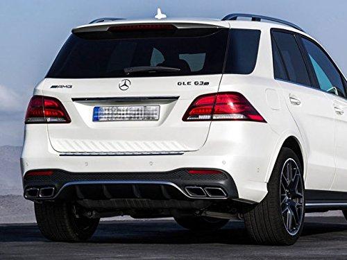 bester Test von mercedes gle suv AMG Heckdiffusor und schwarzes Mercedes Guru Line SUV Endrohr W166-GLE-RBDI-NPTP