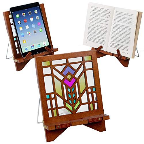 Architectuur Serie Houten Recept Boek Telefoon Houder eReader Tablet Stand Rust Cadeau Idee Baan