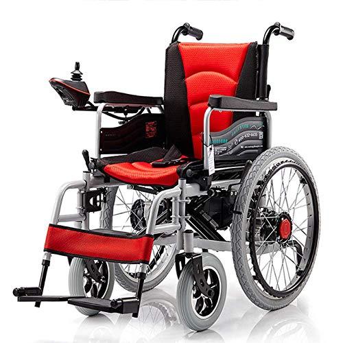 Leichte und einfache, luxus elektrische Rollstuhl mit Handbremse faltbar gemütlicher leichter Rollstuhl Metallgetriebe motor 500 watt gemütlich behindert ältere ältere lieferungen nach hause rollstuhl