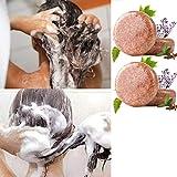 FANGMINGLEI Essence Hair Darkening Shampoo Jabón, Barra de champú Organic Grey Reverse, Jabones de champú Hechos a Mano para Viajes a casa, para Reparar el Cabello dañado 4PCS Cinnamon