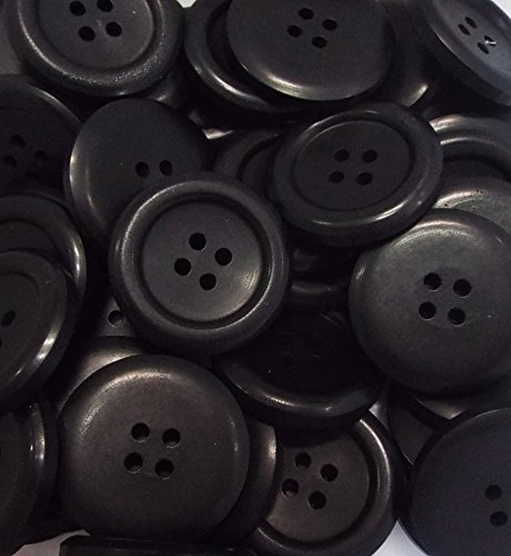 5 Mantelknöpfe 25 mm schwarz