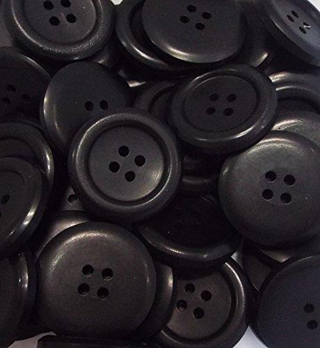 5 Mantelknöpfe 28 mm schwarz