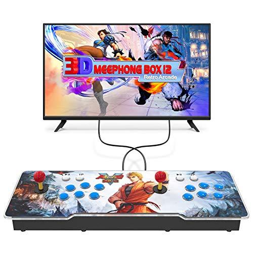 MEEPHONG Pandora Box 3D Consola de Juegos Arcade,Home Retro Multijugador Arcade Console 3300 Juego Todo en Uno (70 Juegos en 3D),Console Equipped with Dual Joysticks and 6 Buttons Pandora Box 12