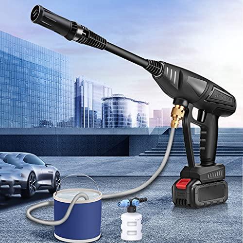HYFF Limpiadoras a presión Lavadora de Coches a Presión Portátil, Lavadora de Energía Eléctrica, con Boquilla Ajustable, Lavadora de Espray Portátil Multiusos, para Calzadas, Patios