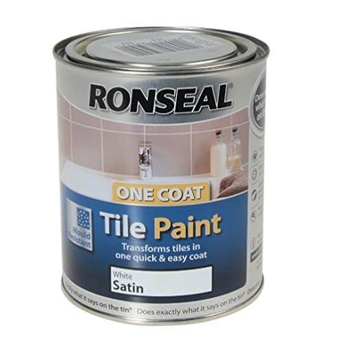 Ronseal QDRSWS One Coat - Pittura spray per piastrelle, 750 ml, finitura satinata, colore: bianco
