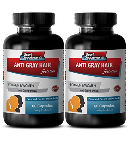 Folic Acid Capsules - Anti Gray Hair - Gray Hair Away (2 Bottles - 120 Capsules)