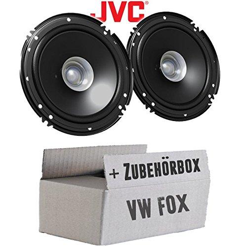 Lautsprecher Boxen JVC CS-J610X - 16cm Auto Einbauzubehör 300Watt Koaxe KFZ PKW Paar - Einbauset für VW Fox Front - JUST SOUND best choice for caraudio