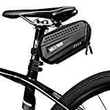 Epessa Bike Saddle Bag Bicycle Under Seat Pack Bag for Road Mountain MTB Bike,Dual Opening Compartment Design, Large Capacity,3D Hard Shell,Rain Resistance, Quick Release and Remove E7