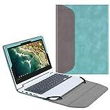 Fintie Sleeve Case for 11.6' Lenovo Chromebook C330 - Premium PU Leather Protective Portfolio Book Cover (NOT Fit Lenovo Chromebook N20p / N21 / N22 / N23 / 300E / 500E / Flex 11), Turquoise